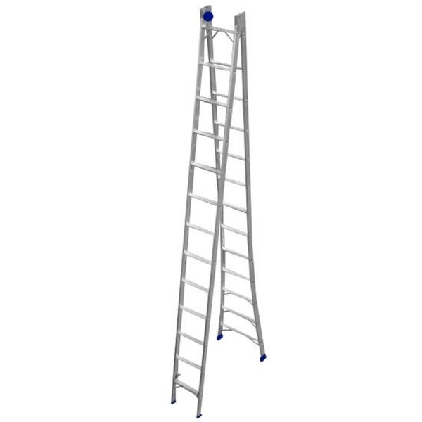 Escada extensiva em alumínio 13 degraus- Real