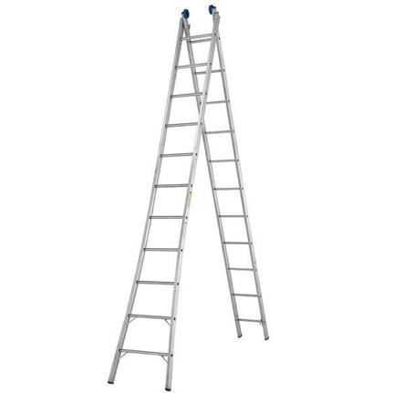 Escada Extensiva em alumínio com 13 Degraus EX 13 - Real Escadas
