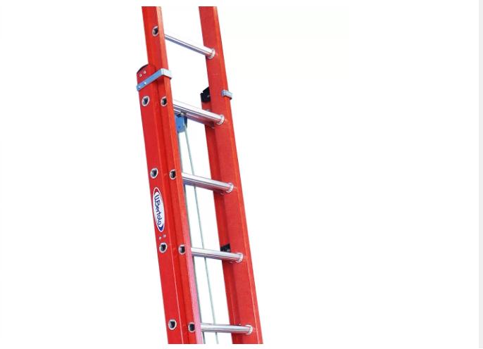 Escada Extensível Vazada Fibra De Vidro 4.8 Metros 15 Degraus - EAFV15-  W Bertolo