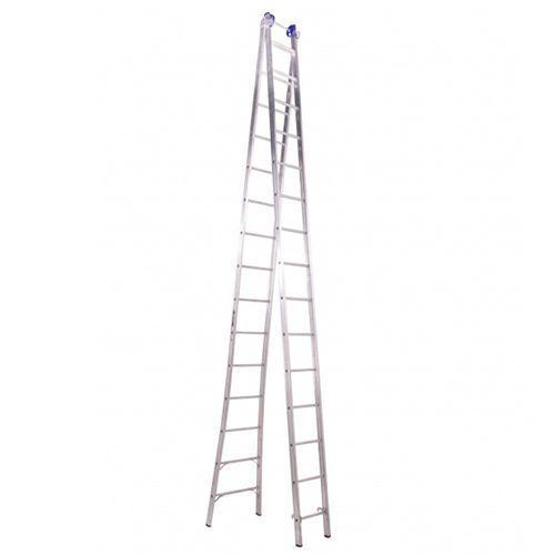 Escada profissional Extensível 15 degraus - Alumínio - Real Escadas