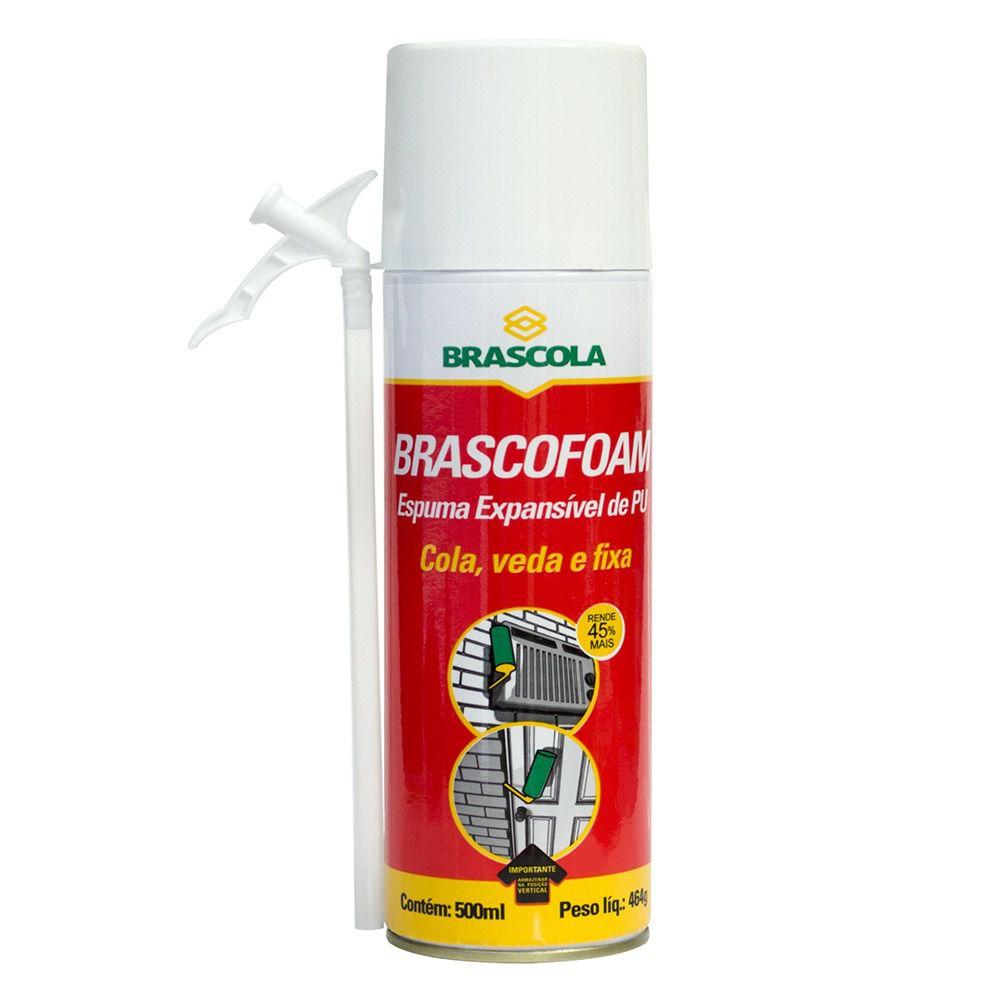 Espuma Expansiva De Poliuretano Brascofoam 500ml - Brascola 450 GR