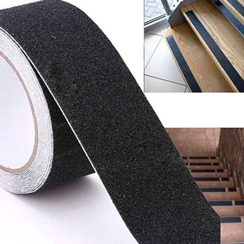 Fita antiderrapante 50mm X 05 metros Preta para pisos e escadas- Tecnibra