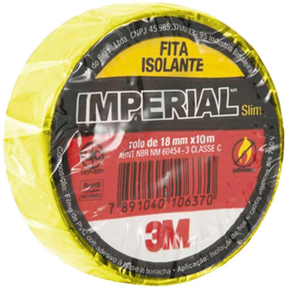 Fita Isolante 18mm x 10m IMPERIAL Amarela 3M