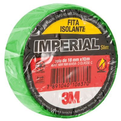 Fita Isolante 18mm x 10m IMPERIAL Verde 3M