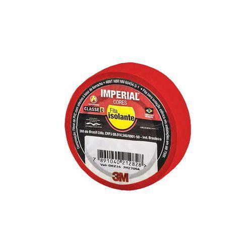 Fita Isolante 18mm x 10m IMPERIAL Vermelha 3M