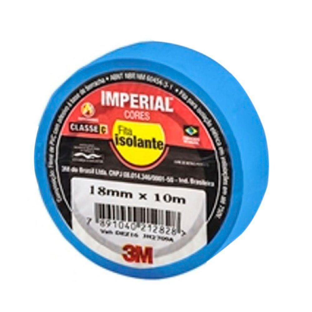 Fita Isolante Imperial Azul 18Mm X 10M- 3M