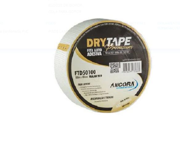 Fita Telada Adesiva Premium Drywall Trincas Gesso 48 X 100m