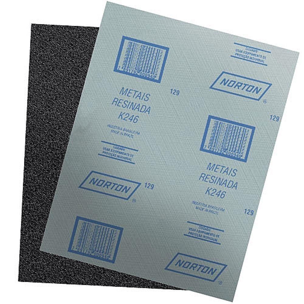 Folha De Lixa Para Ferros - K246 - Norton (120)