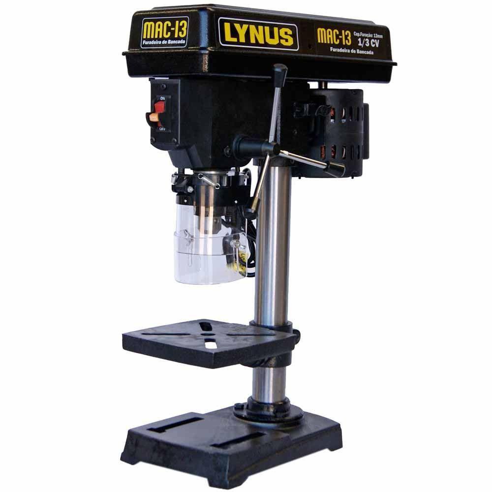 Furadeira de Bancada de 13mm 1/3CV - LYNUS-MAC-13