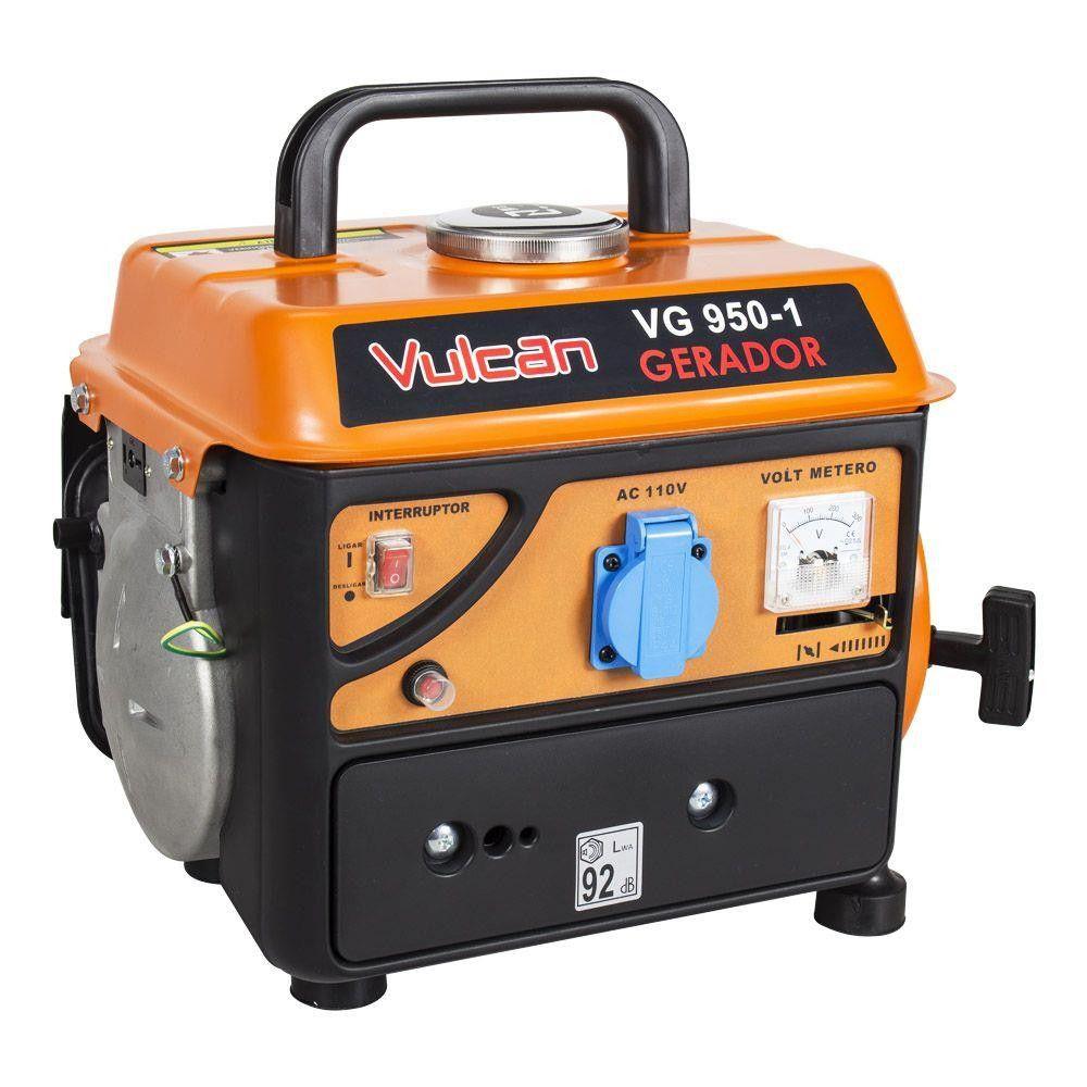 Gerador A Gasolina 2T Partida Manual 950 W Vulcan - 110V