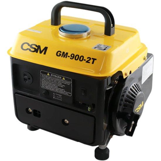 Gerador de Energia à Gasolina 1,10 kVA 2 Tempos Monofásico 110V GM900 - CSM