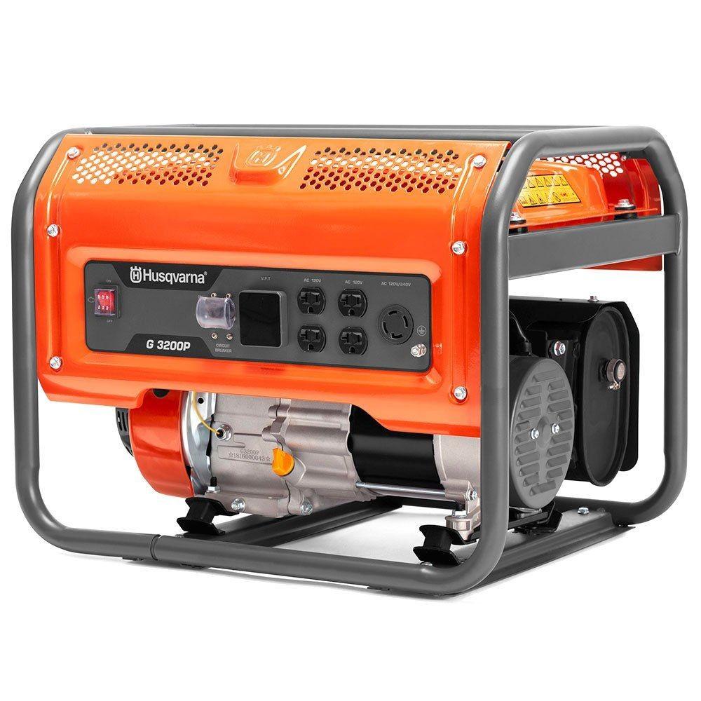 Gerador De Energia Gasolina 4 T Husqvarna G3200p 3200w Monofasico