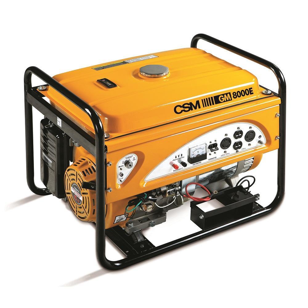 Gerador de Energia Partida Elétrica  à Gasolina 8,5 KVA 4 tempos 110/220V GM 8000E - CSM
