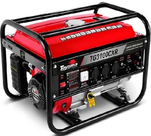 Gerador energia a gasolina bivolt manual 3.1 KVA TG3100CXR - Toyama