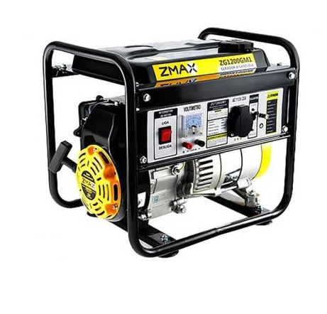 Gerador de Energia a Gasolina 0,9Kva ZG1200GM1 Zmax