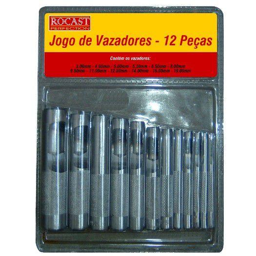 Jogo de Vazadores com 12 Peças - ROCAST-590016