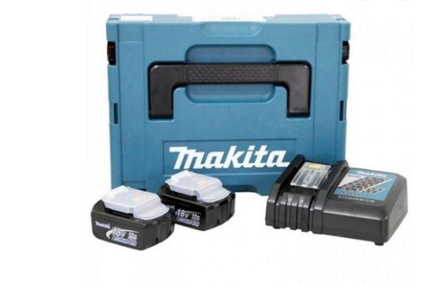 Kit Recarga c/ Makpac + 2 Baterias 3aH 18v + Carregador 198046-9 Makita