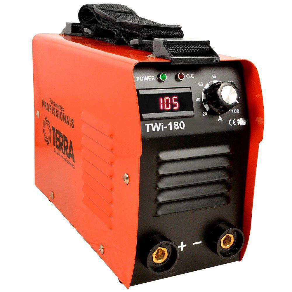 Máquina Inversora de Solda 160 Amperes Bivolt com Display Digital TWI-180 - Terra Equipamento