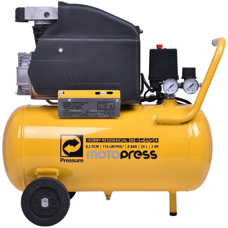 Moto Compressor De Ar 8,2 Pés 24 Litros 127V Hobby MotoPress 24L - Pressure