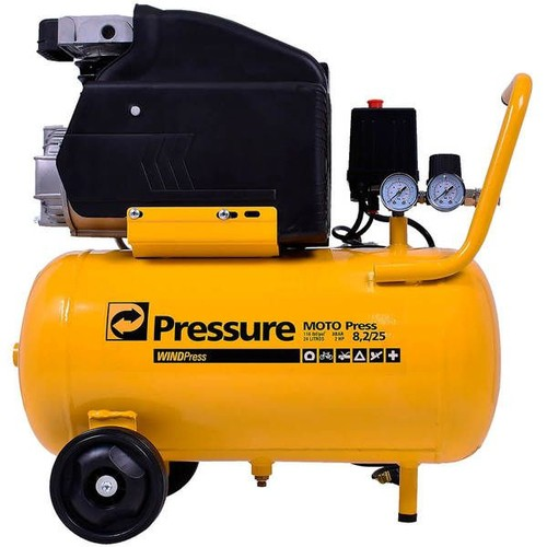 Motocompressor De Ar 8,2 Pés 24 Litros Moto Press Pressure
