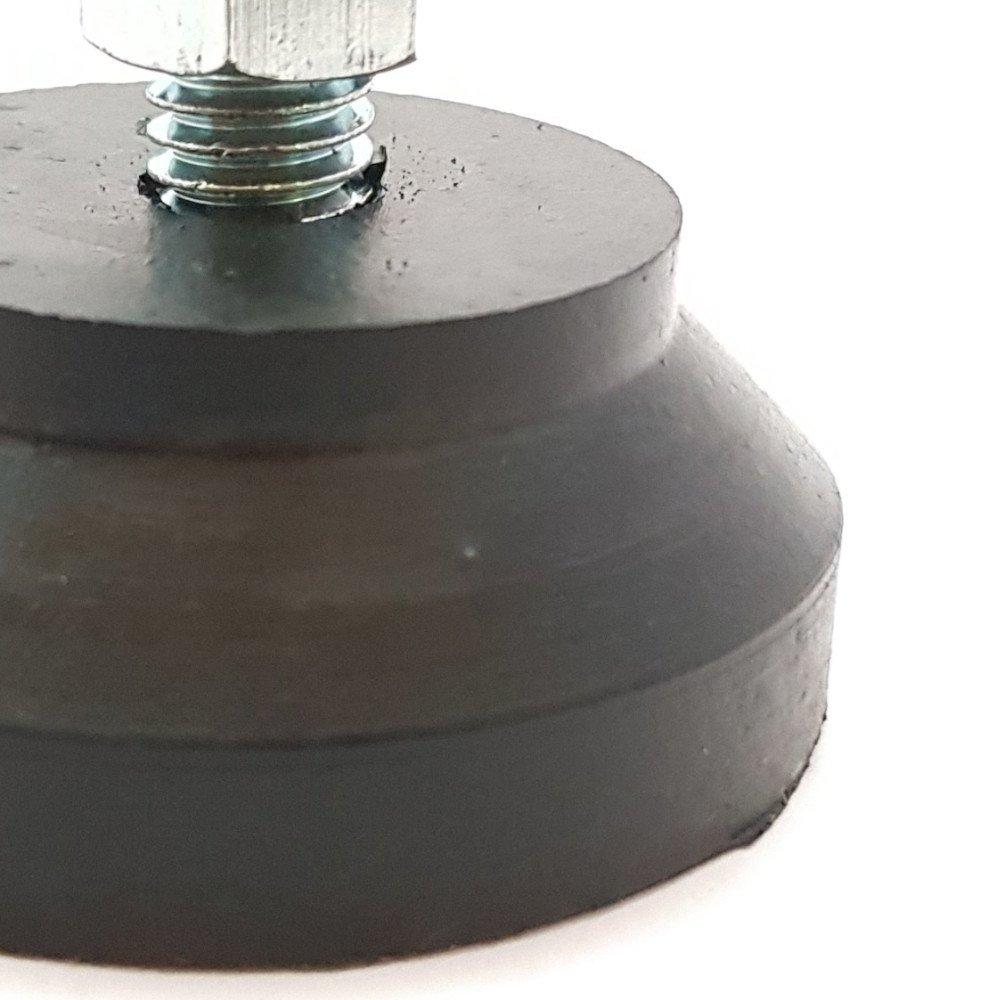 Nivelador Mini 1/4 x 2cm com Base de Borracha e Parafuso Zincado - Nivebor