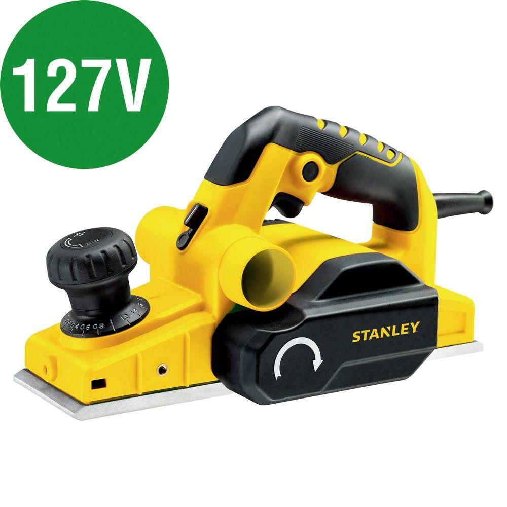 Plaina elétrica 750 watts profundidade de corte de até 2 mm 127 V - STPP7502 - STANLEY