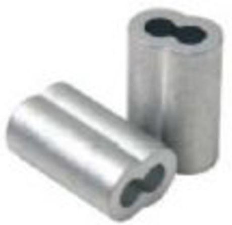 """Prensa cabos alumínio 1/8"""""""