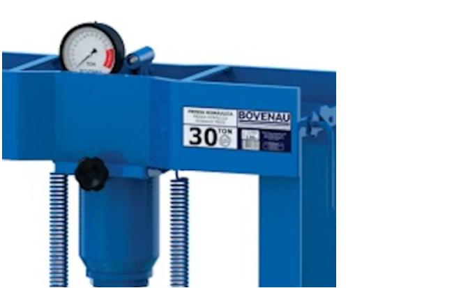 Prensa hidráulica 30 Toneladas com Manômetro P30000 - Bovenau
