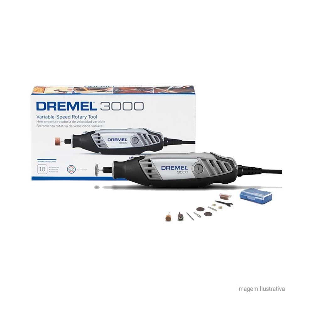 Retífica Rotativa Série 3000 110V com 10 Acessórios - DREMEL-F0130300