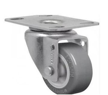 Rodízio Cinza Giratório Com Placa GL 158 Bp 25 kg - Schioppa