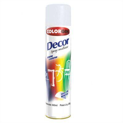 Tinta Spray Branco 360 ML - 250 GR Fosco - DECOR COLORGIN