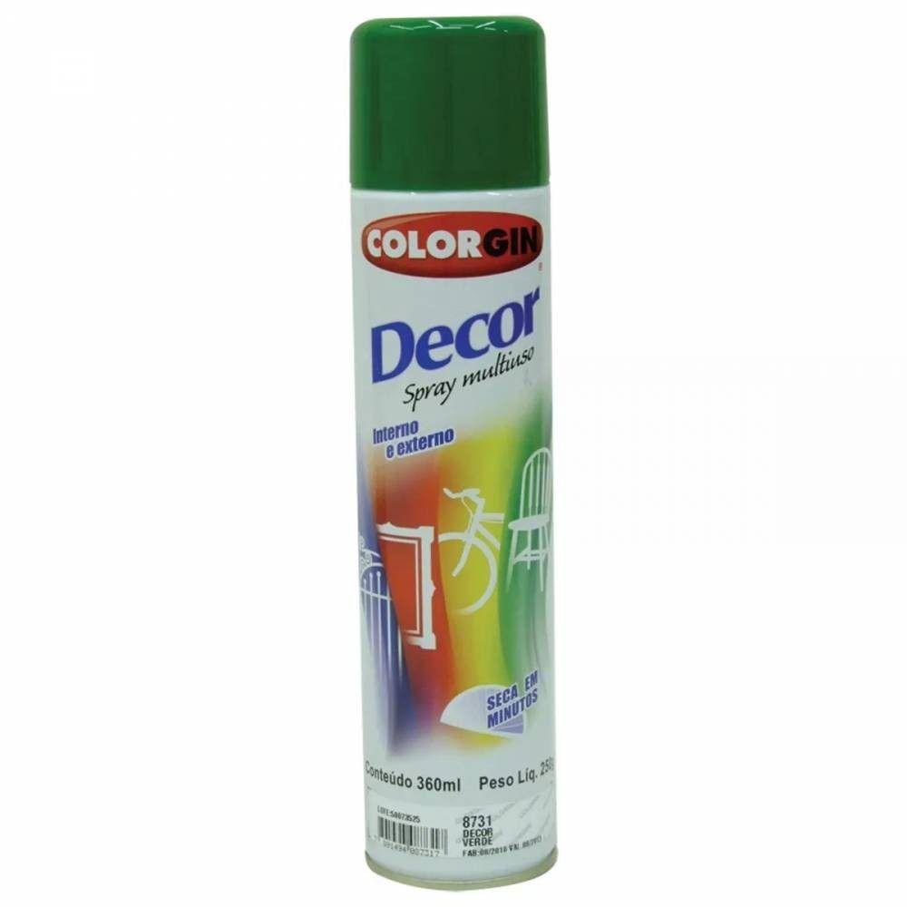 Tinta Spray Verde Decor 8731 Colorgin