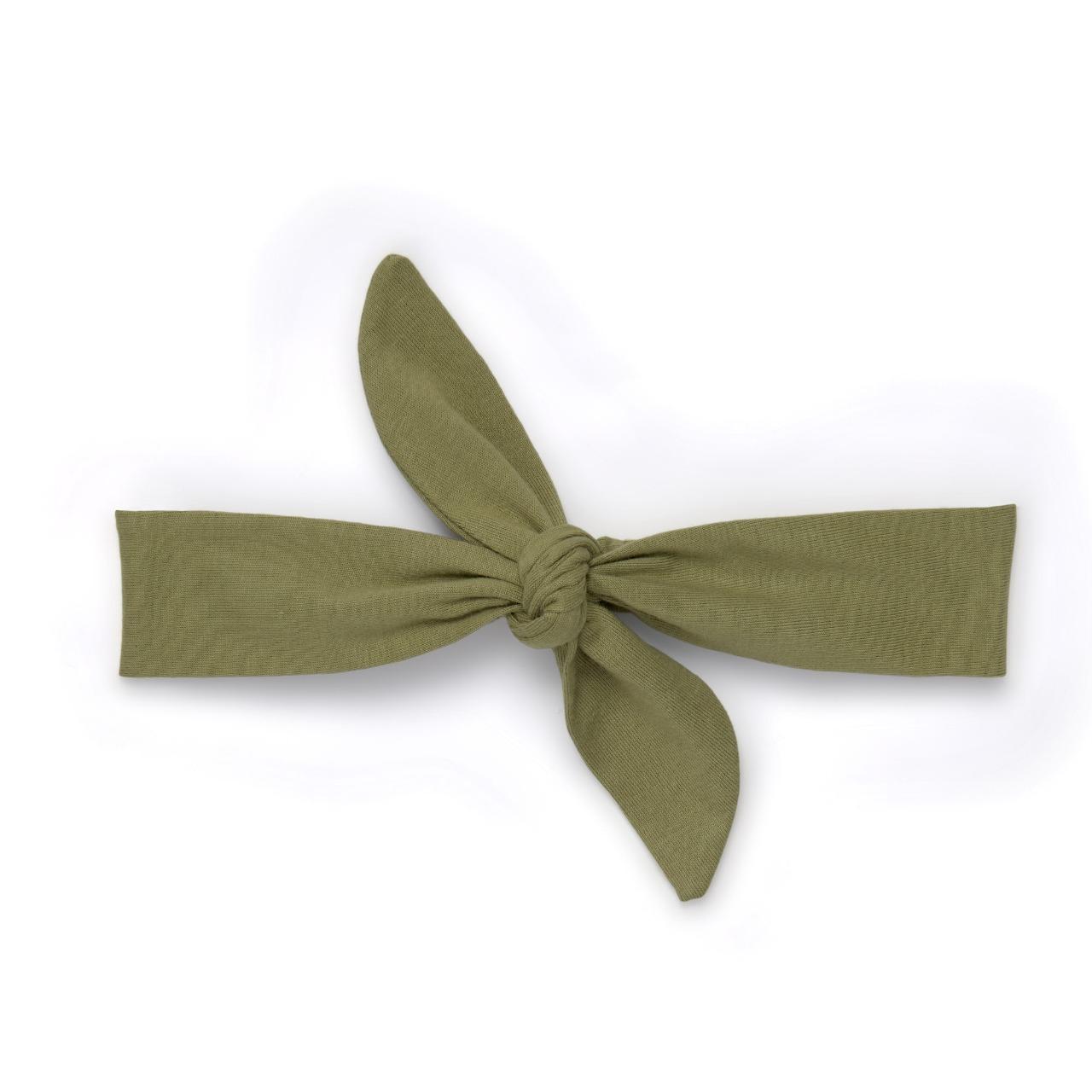 Faixa de Cabelo com Elástico Verde Militar