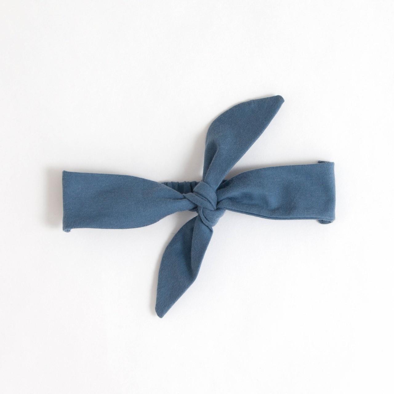 Faixa Cabelo com Elástico Azul
