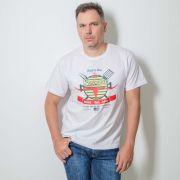 Camiseta Masculina Estampada BBQ  Barbecue Branca