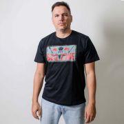 Camiseta Masculina Estampada BBQ  Zone Preta