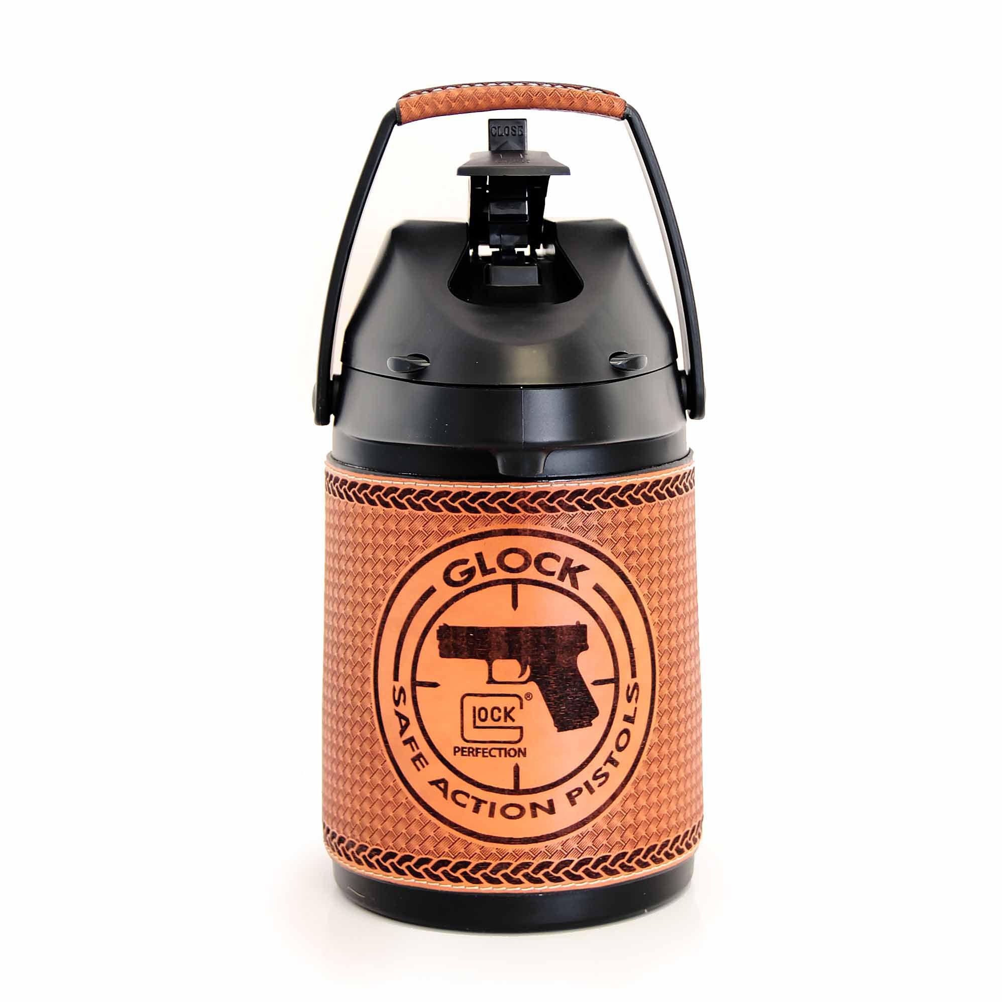 Garrafa Inox em couro 2,5 lts - Glock