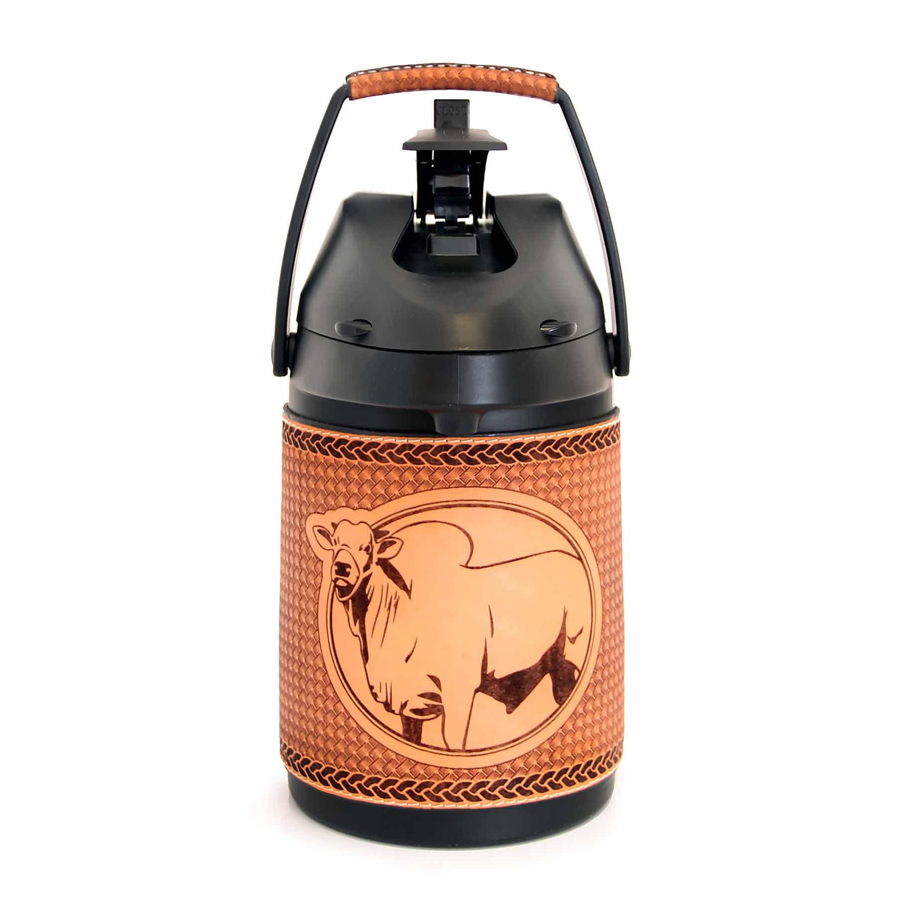 Garrafa Inox em couro 2,5 lts - Nelore