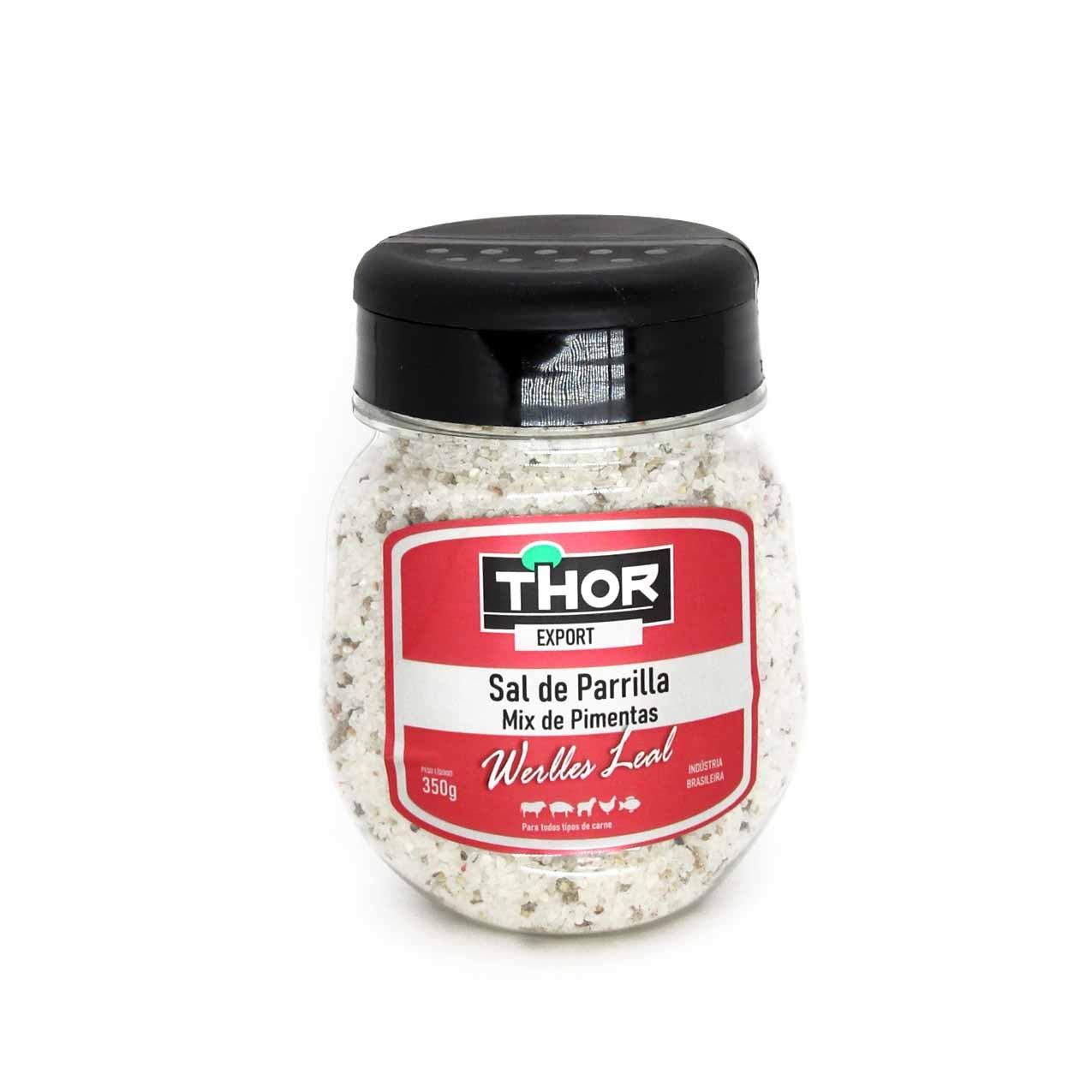 Sal de Parrilla Werlles Leal Mix de Pimentas Thor 350gr