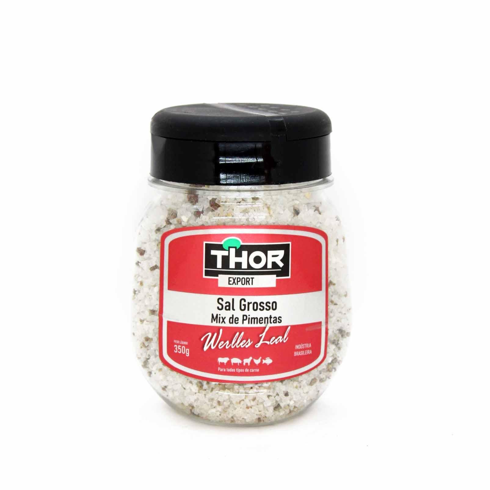 Sal Grosso Werlles Leal Mix de Pimentas Thor 350gr