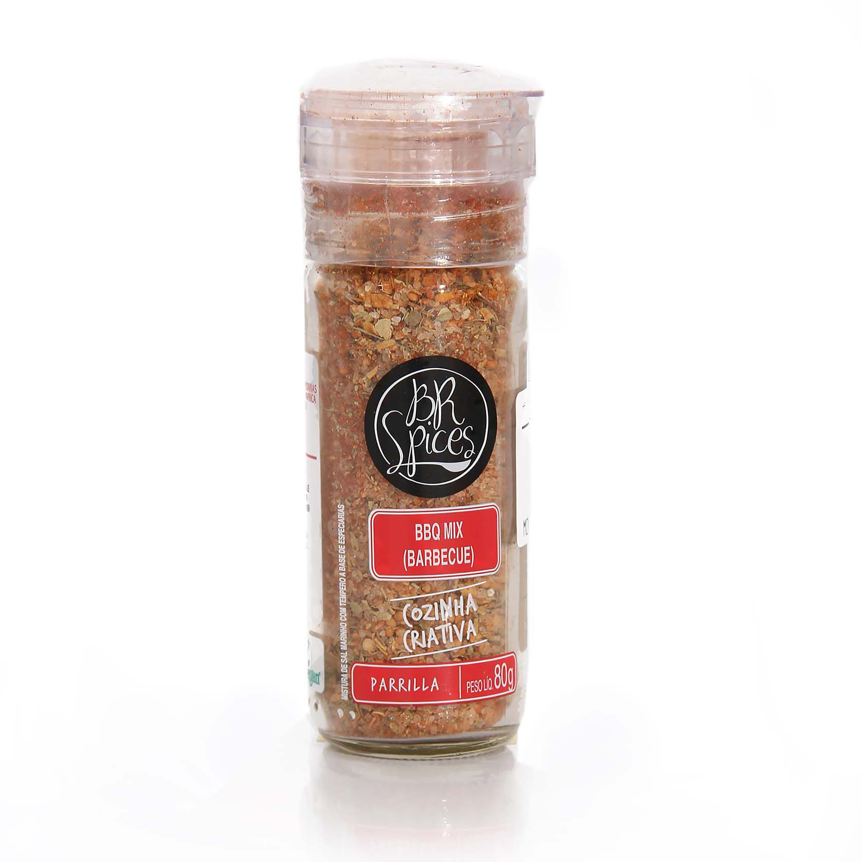 Tempero c/ moedor BR Spices - Mix Barbecue 80gr