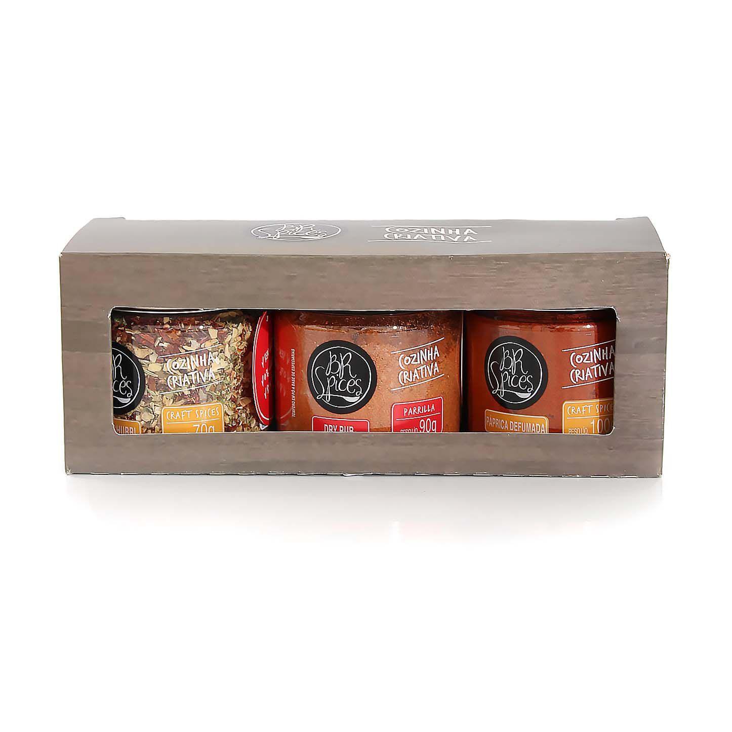 Temperos para churrasco - Kit BR Spices  3 potes