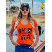 Camiseta Feminina - Racing and Ride | Blend Iron