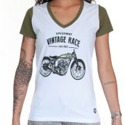 Camiseta Feminina - Vintage Race | Blend Iron