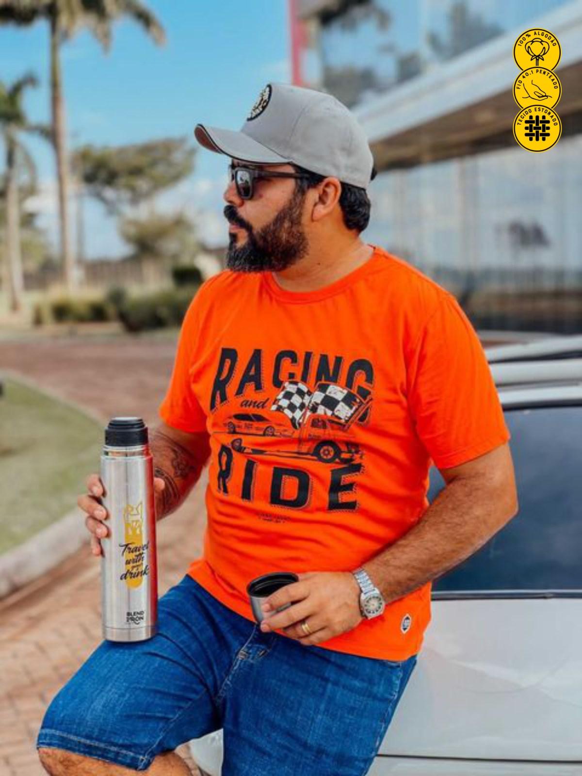 Camiseta Masculina - Racing and Ride | Blend Iron