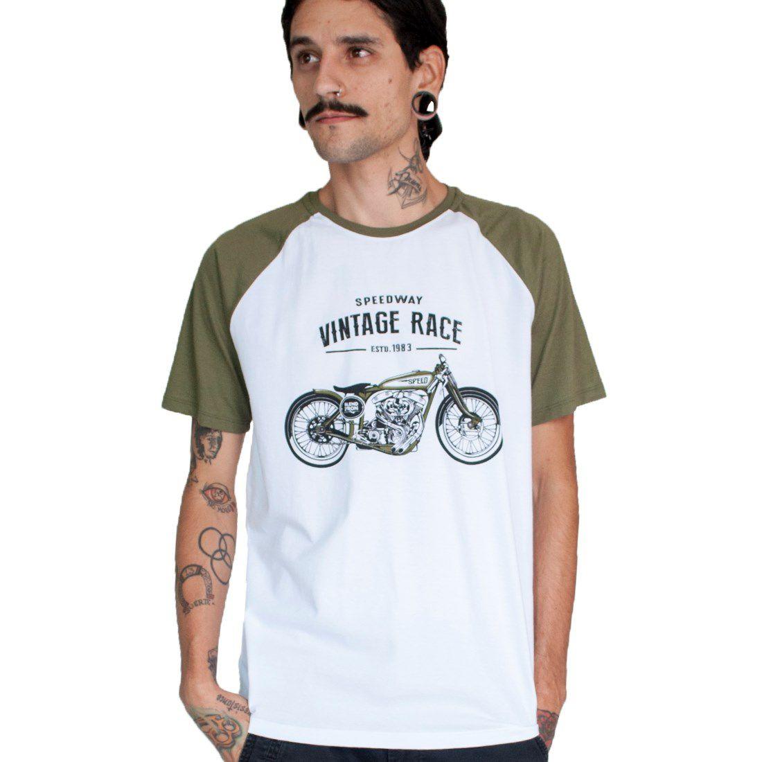 Camiseta Masculina - Vintage Race