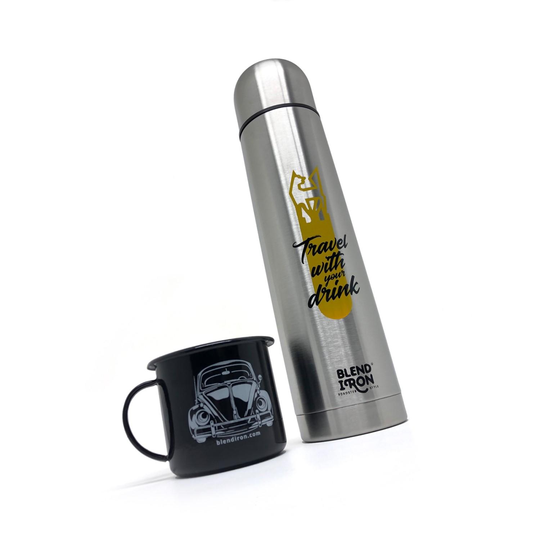 Garrafa Térmica Inox 1L - Travel | Blend Iron