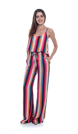 Pantalona Linho Listrada (pr)