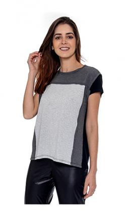T Shirt Couro/malha