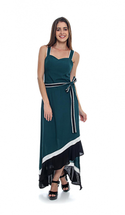 Vestido Midi Viscose Assimétrico (PR)